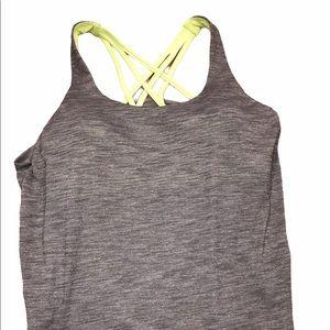 Lululemon size 8 grey strappy athletic tank top